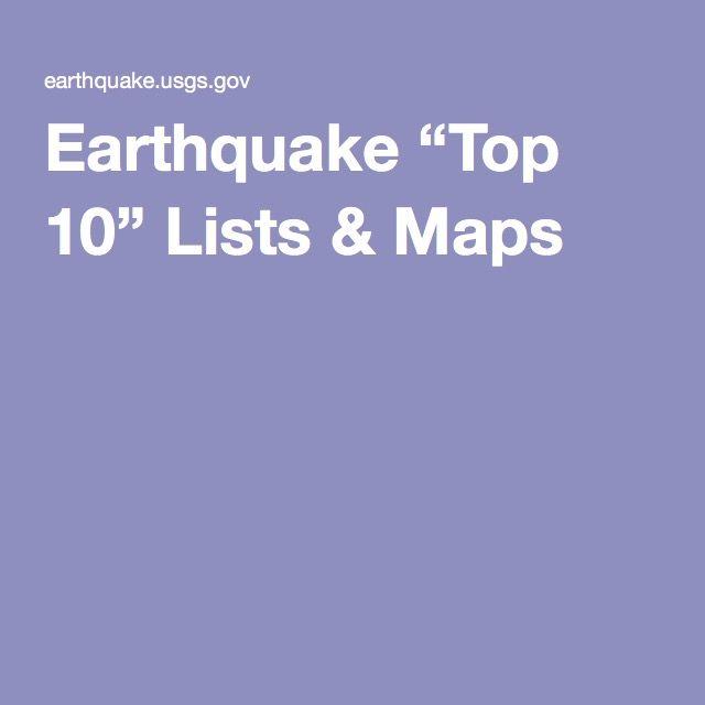 """Earthquake """"Top 10"""" Lists & Maps"""
