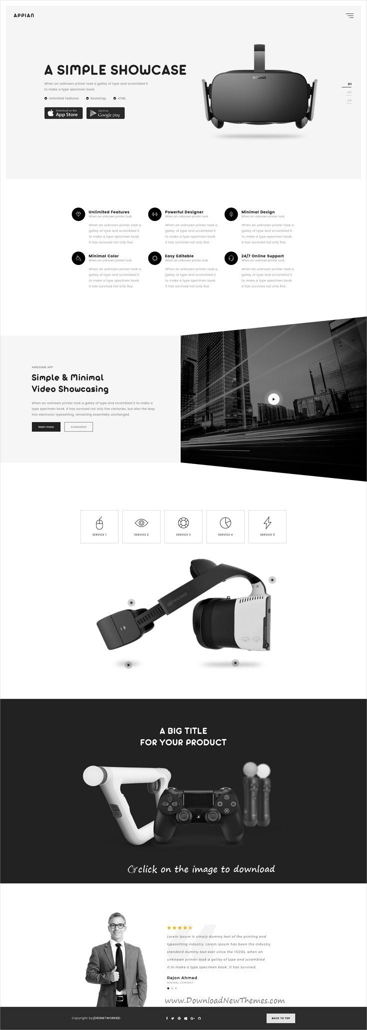 Appian is clean and modern design PSD template for app #and #product #landingpage website with 13 layered PSD pages to download 👉click on image.