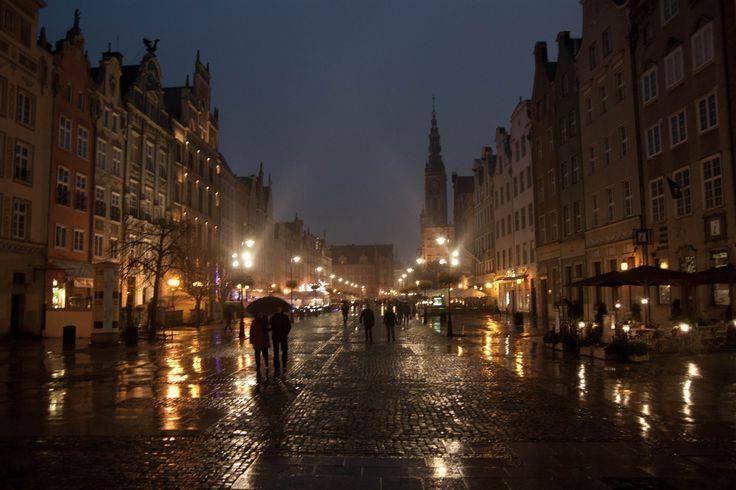 przepiękny deszczowy gdańsk