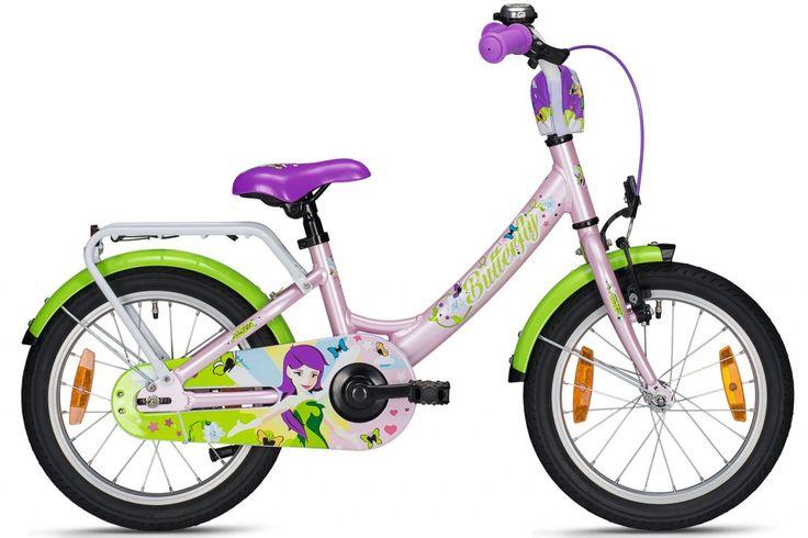 Falter Kinderfahrrad Butterfly 16 Zoll 2017 - Im hübschen Mädchendesign und mit kindgerechter Ausstattung #Fahrrad #Kinderfahrrad
