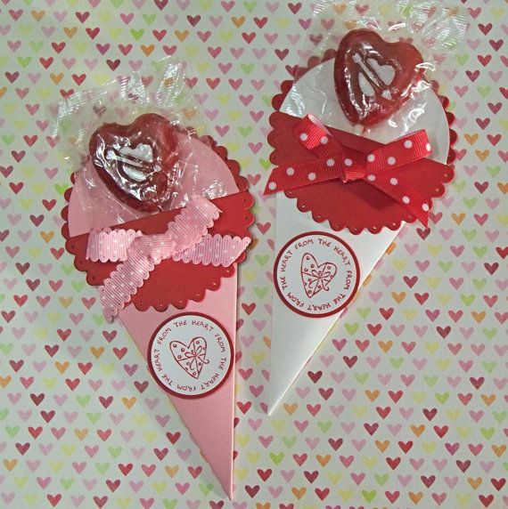 Handmade Valentine Lollipop Holders Stampin' Up by WhimsyArtCards, $2.50