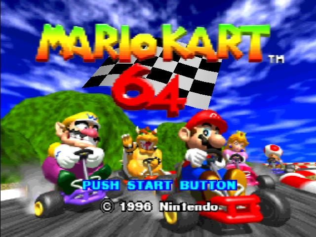 Oh yeah, forgot about Mario Kart for the 64. Am I the only one that wasn't too impressed with this one? I mean, it was ok but not my favorite like the 8-bit and the newer ones.