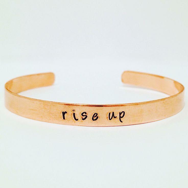 Hand-Stamped Hamilton inspired bracelet