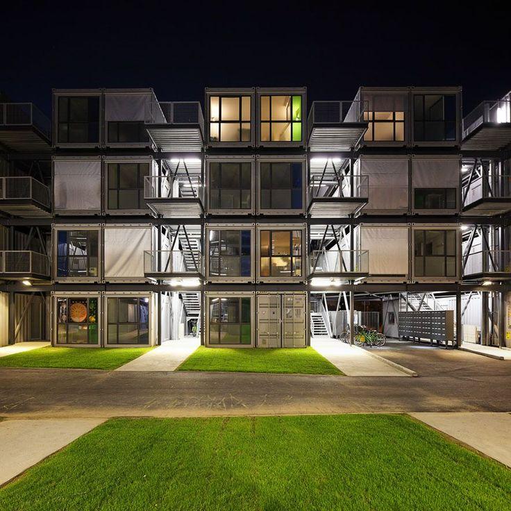 "Student residence ""Cité A Docks'   Le Havre, France   architect Alberto Cattani."