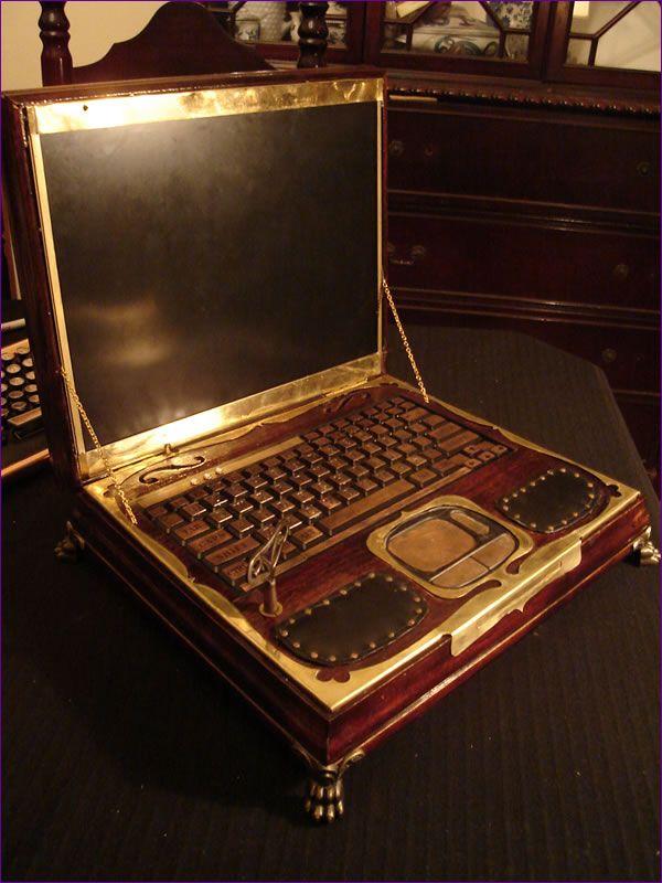 Steampunk laptop, perfect.