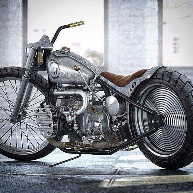 Raw classic motorcycle