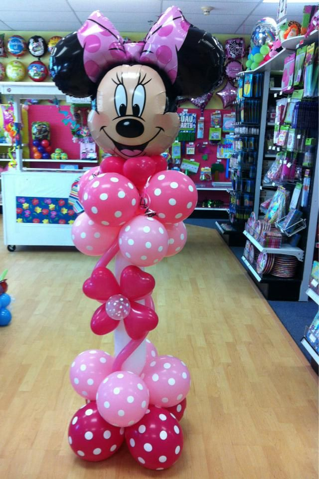 minnie mouse balloon sculpture m dchen geburtstag. Black Bedroom Furniture Sets. Home Design Ideas