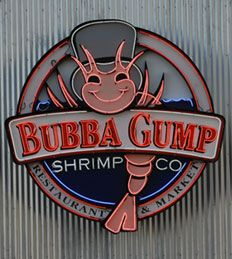 LA: Bubba Gump Shrimp at Universal Studio's CityWalk. Amazing prawns cooked every way imaginable.