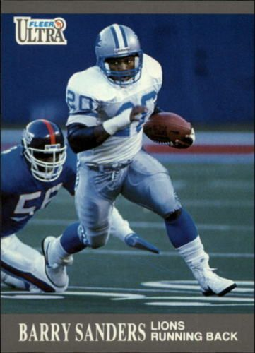 1991 Ultra #169 Barry Sanders Detroit Lions NFL Football Card #Ultra #DetroitLions
