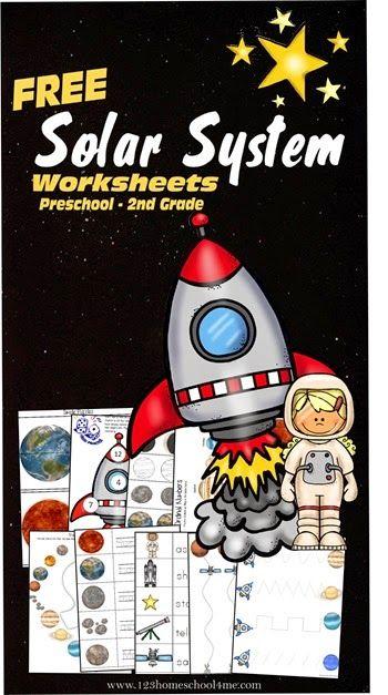FREE Solar System Worksheets Preschool thru Second Grad