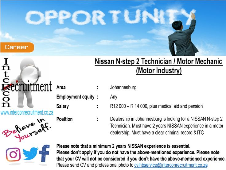 Please visit our website http://www.interconrecruitment.co.za for more details