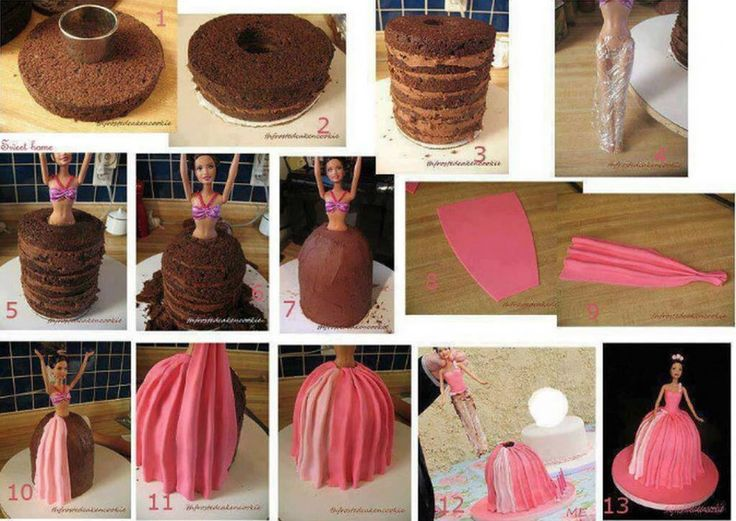 DIY Barbie birthday cake! How easy is this???