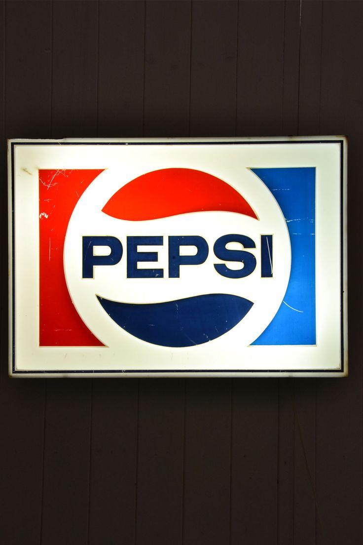 Insegna luminosa vintage Pepsi-Cola anni '70/80