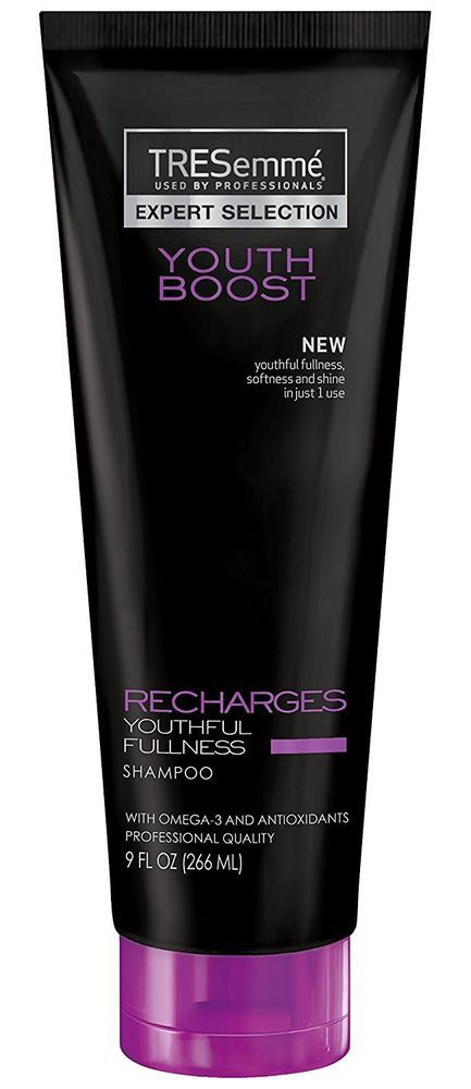 TRESEMME 250mL YOUTH BOOST SHAMPOO RECHARGES YOUTHFUL FULLNESS Brand New