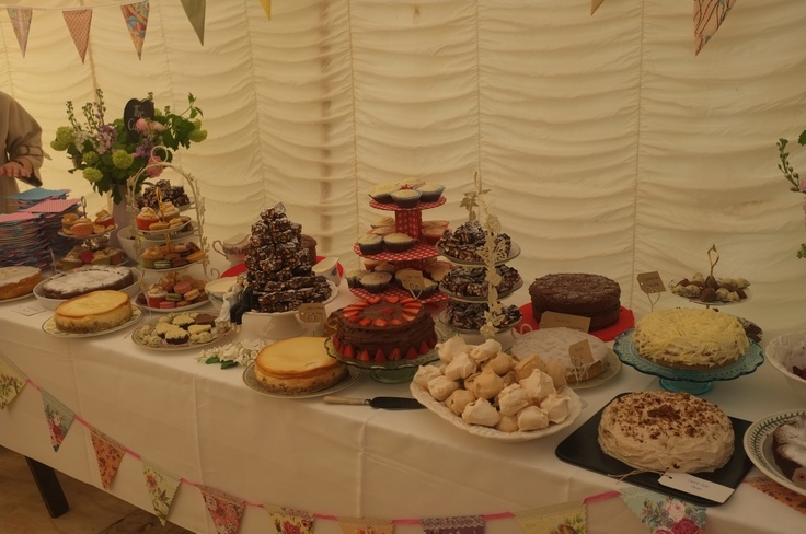 village fete wedding desserts
