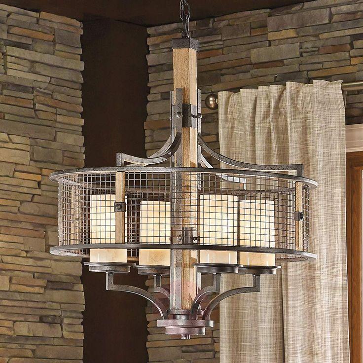 Espectacular lámpara de Araña en estilo rústico-rural. Disponible en Lampara.es con la Ref.: 3048322