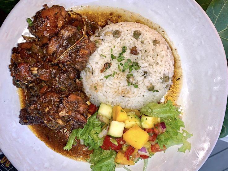 jamaican brown stew chicken   recipe in 2020  chicken