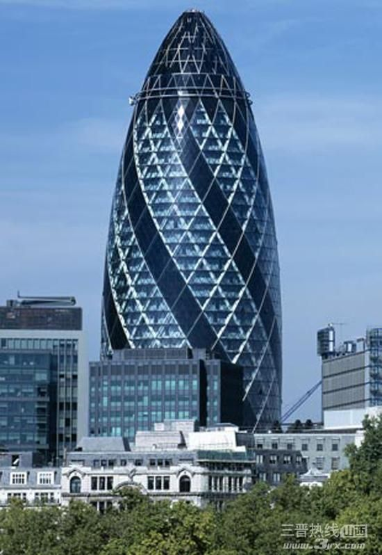 World 39 s top 10 beautiful buildings the gherkin in london for Beautiful architecture