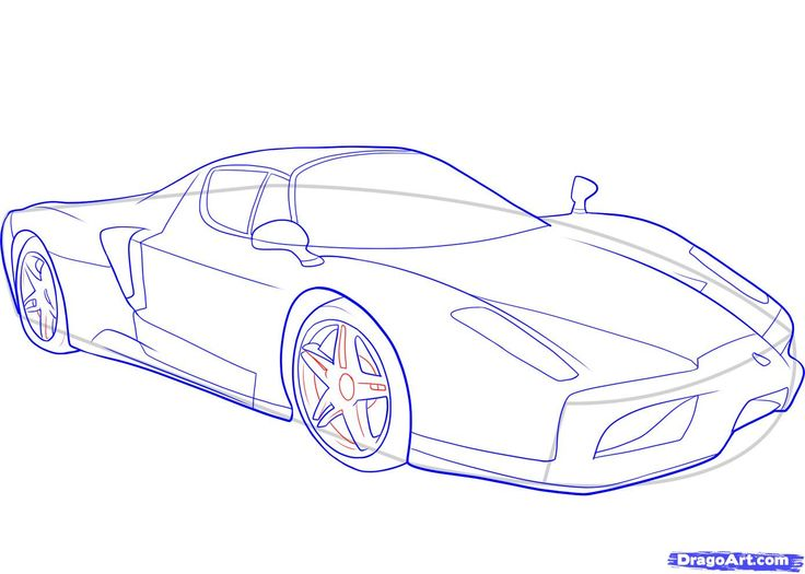 how to draw a ferrari step 9 1 000000046529 1389 991 cars pinterest. Cars Review. Best American Auto & Cars Review