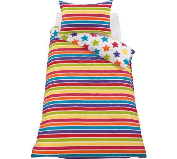 Buy ColourMatch Star and Stripe Children's Bedding Set - Single at Argos.co.uk, visit Argos.co.uk to shop online for Children's bedding sets, Bedding, Home and garden
