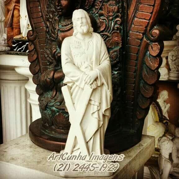 Santo André 30 cm.  #SantoAndré #SantoAndre #santo #santododia #santoscatolicos #apóstolo #apostolo #artesacra #artesanato #gesso #Catolicismo #IgrejaCatólica #IgrejaCatolica #André #SantaMissa #católicos #PapaFrancisco #Rogaipornós #Rogaipornos #Padre #religião #RiodeJaneiro #altar #fé #achadosdasemana #boatarde #boanoite #barradatijuca #recreiodosbandeirantes #021rj