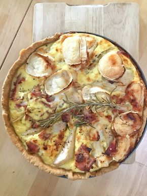 Recipe for quiche with goat cheese and pears