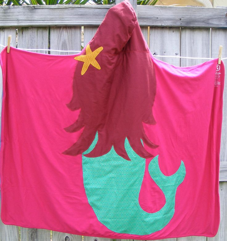 Mermaid Hooded Towel. $28.00, via Etsy.