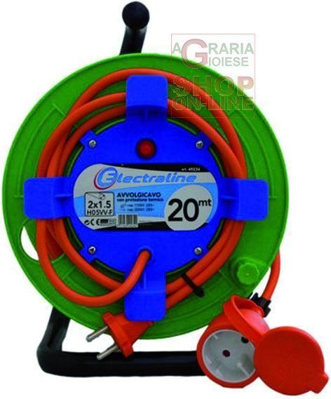 AVVOLGICAVO GARDEN PRESA CON SPINA 16A 2X1,5 MT. 20 ART. 49234 https://www.chiaradecaria.it/it/materiale-elettrico/819-avvolgicavo-garden-presa-con-spina-16a-2x15-mt-20-art-49234-8011439492344.html