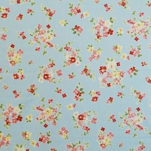 Posie Sky 100% cotton 137cm 63.7cm Curtaining