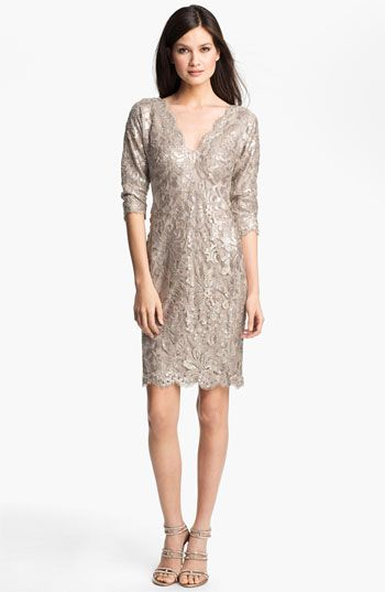 Tadashi Shoji Sequin Lace Dress available at #Nordstrom