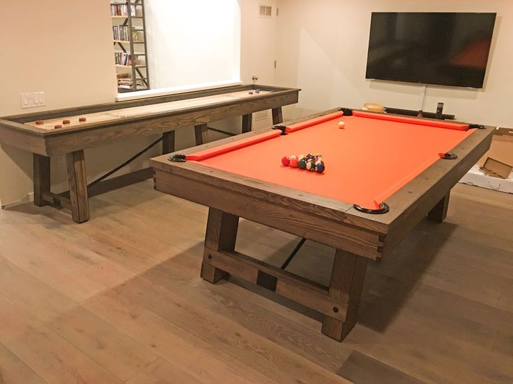 8' Weathered Pool Table-Rustic Oak Wood w/Accessories-Rustic Pool Table-Gaming Tables-Game Room Furniture-Billiards-Rustic Furniture-Pigment by sawyertwain on Etsy