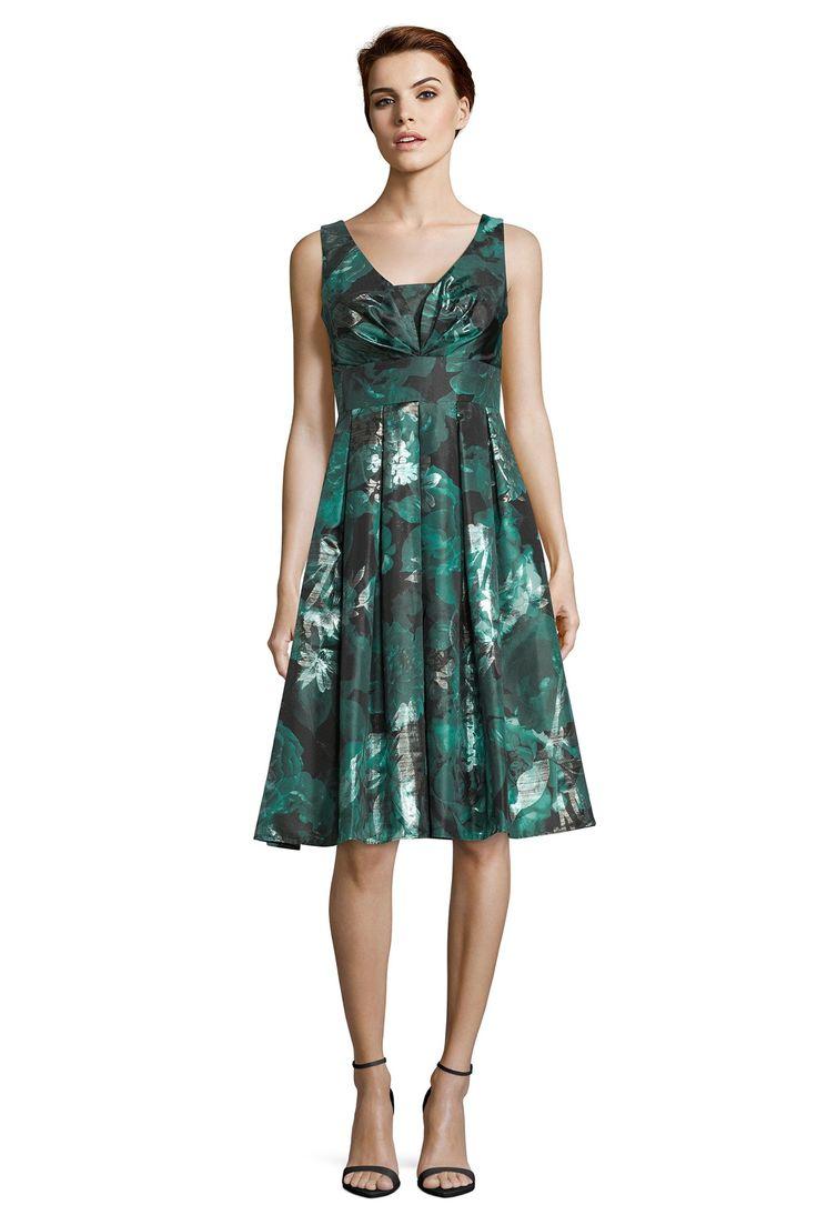 Brautmutter Kleider wie dieses smaragdgrüne Taftkleid für