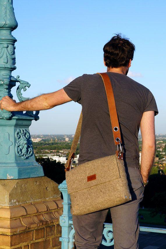 Mens Messenger Bag Mens satchel bag / Messenger bag for by Rambag