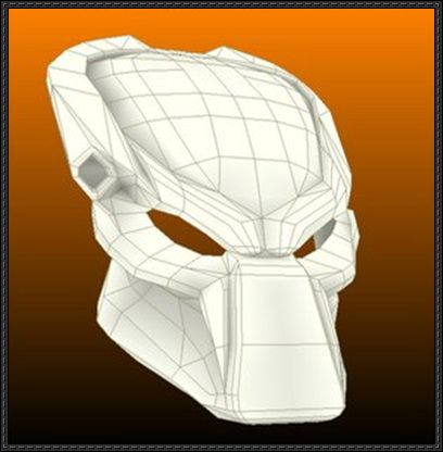 Aliens vs. Predator - Wolf's Bio-Mask Papercraft Free Download - http://www.papercraftsquare.com/aliens-vs-predator-wolfs-bio-mask-papercraft-free-download.html