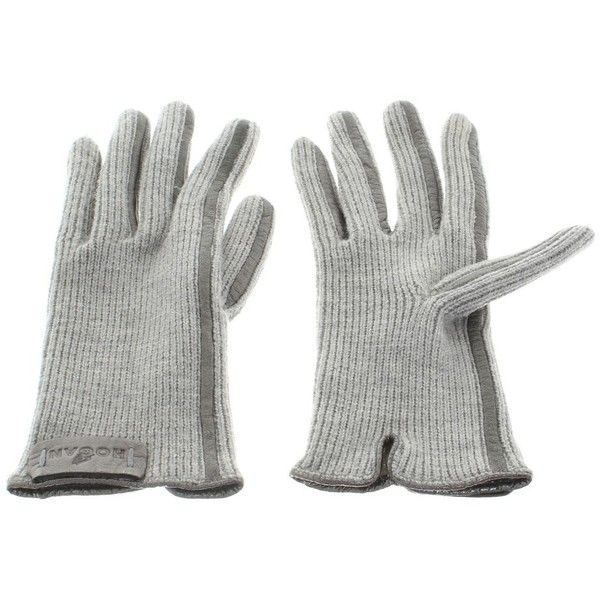 Pre-owned Gloves in grey ($79) ❤ liked on Polyvore featuring accessories, gloves, grey, long grey gloves, long gloves, gray gloves and grey gloves