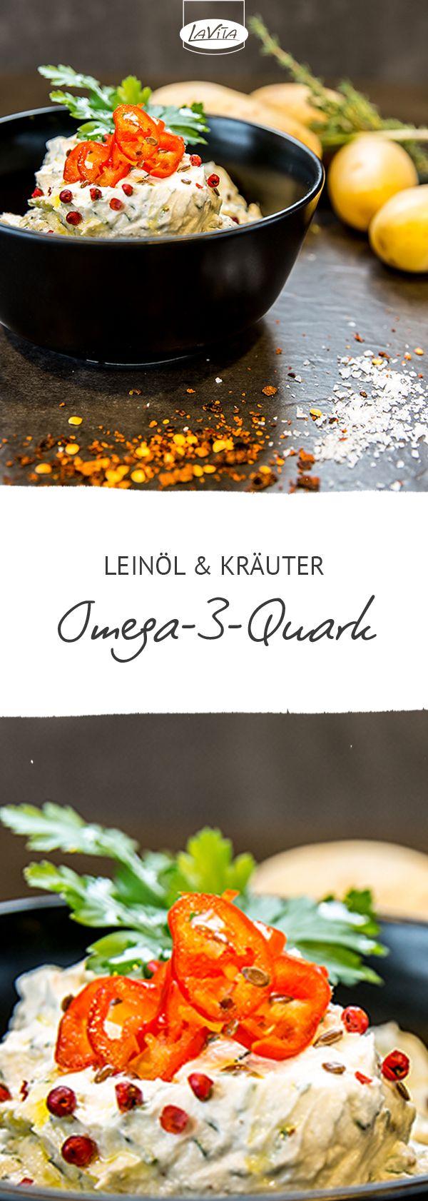 Omega-3-Quark mit Leinöl und frischen Kräutern