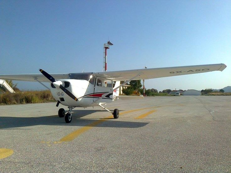SX-ASG parked at Mytilene Airport (LGMT) after its SID and new paint scheme.