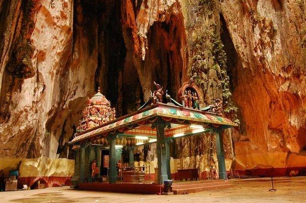 Hindu temple inside   ...