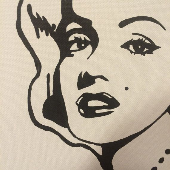 94 best art images on pinterest silhouettes stencil and for Marilyn monroe tattoo canvas