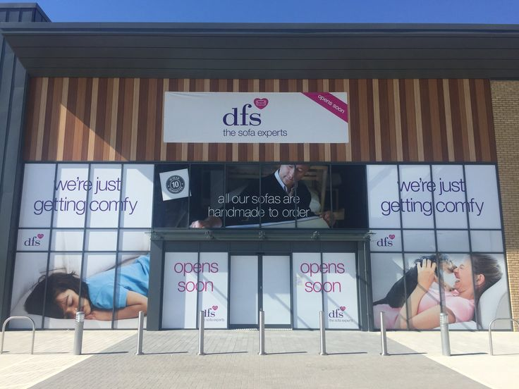 Large Format external vinyls and install for the new @DFS store in Salisbury #makingmagichappen #externalbranding