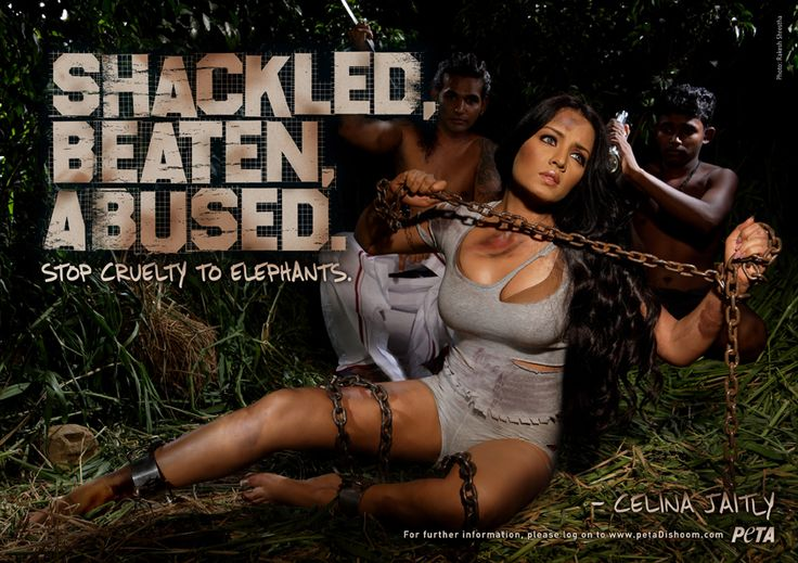 Sexualizing women to protect elephants helps neither the woman, nor the elephant.
