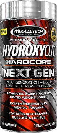 Hydroxycut Hardcore Next Gen. The ingredients consist of natural herbs and substances and provide huge weight loss benefits.