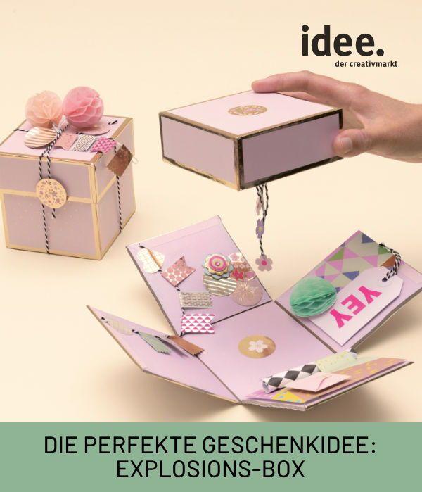 Diy Geschenk Explosions Box In 2020 Geschenke Geschenkideen Diy Geschenke Selber Machen