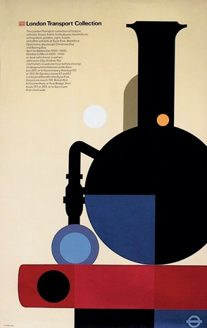 London Transport Collection, poster published by London Transport Executive, 1975 by Tom Eckersley