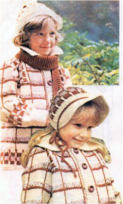 Схема вязания спицами, полупальто, капор, шапочка