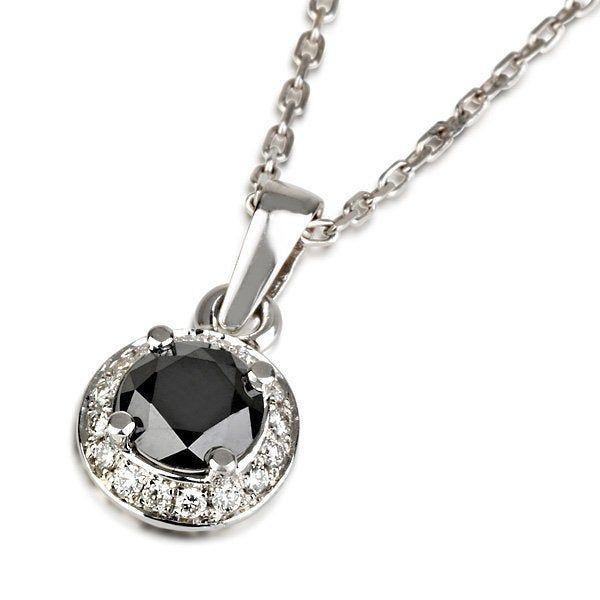 Black Diamond Halo Pendant 14k White Gold Vintage Style Etsy Black Diamond Necklace Halo Pendant Womens Necklaces