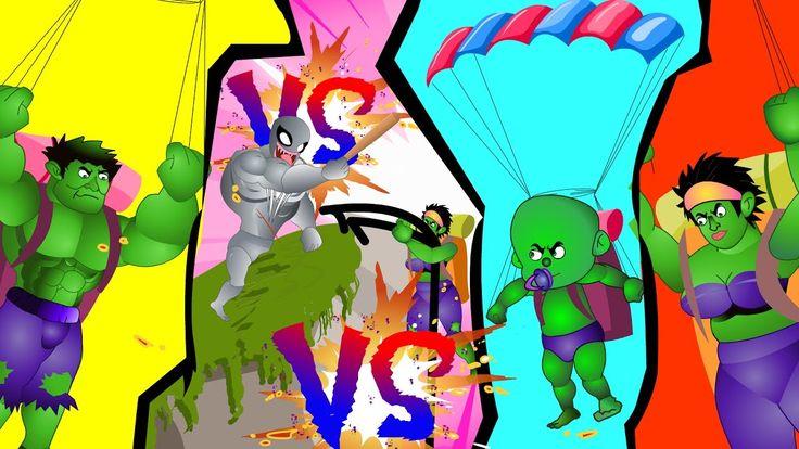 Hulk Finger Family Nursery Rhyme (Hulk Vs Venom) Superheroes Finger Fami...