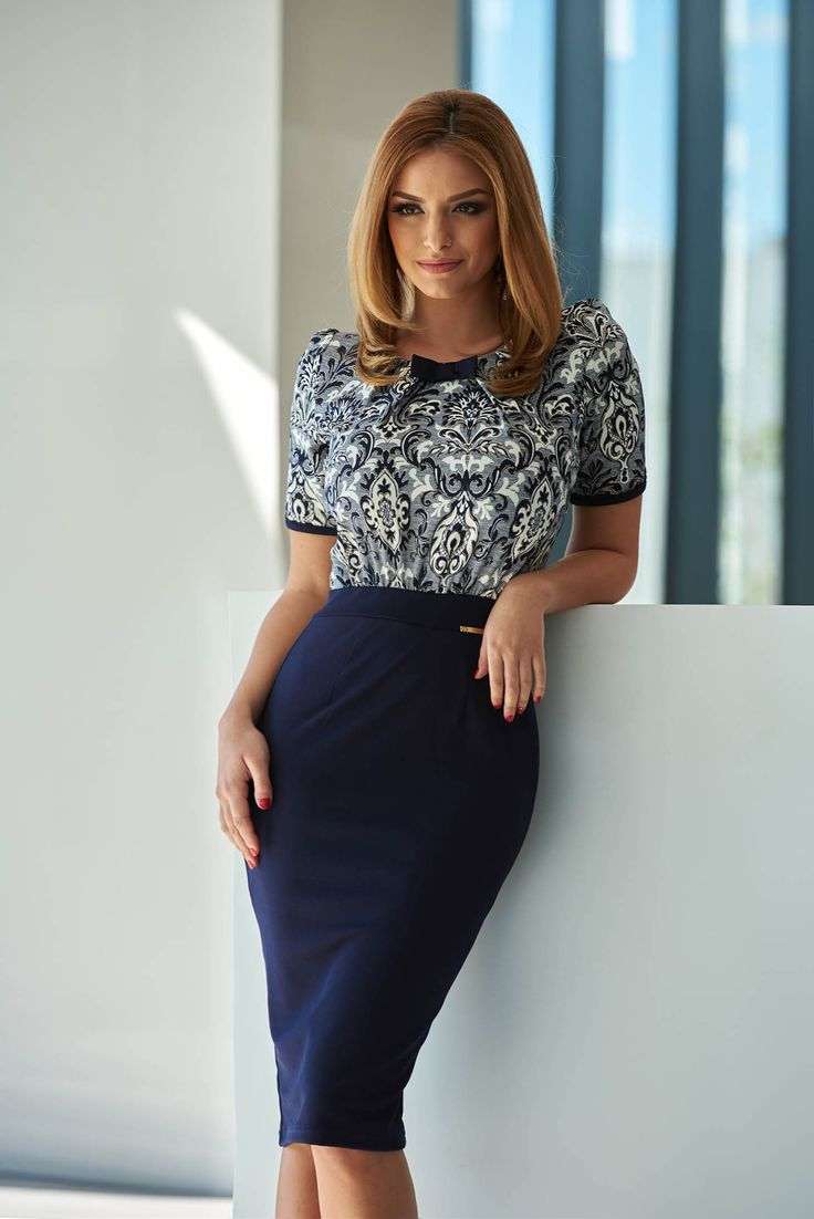 Fofy Office Lady DarkBlue Dress