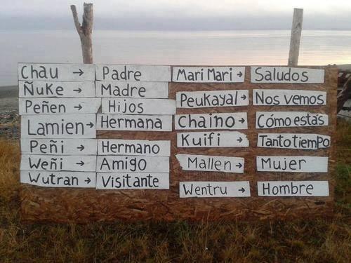 Quelques mots en Mapudungun (langue des Mapuches)