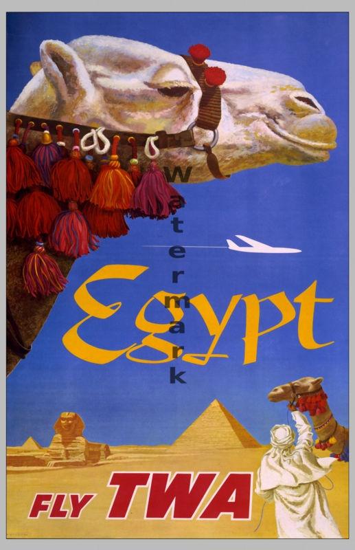 Egypt vintage poster